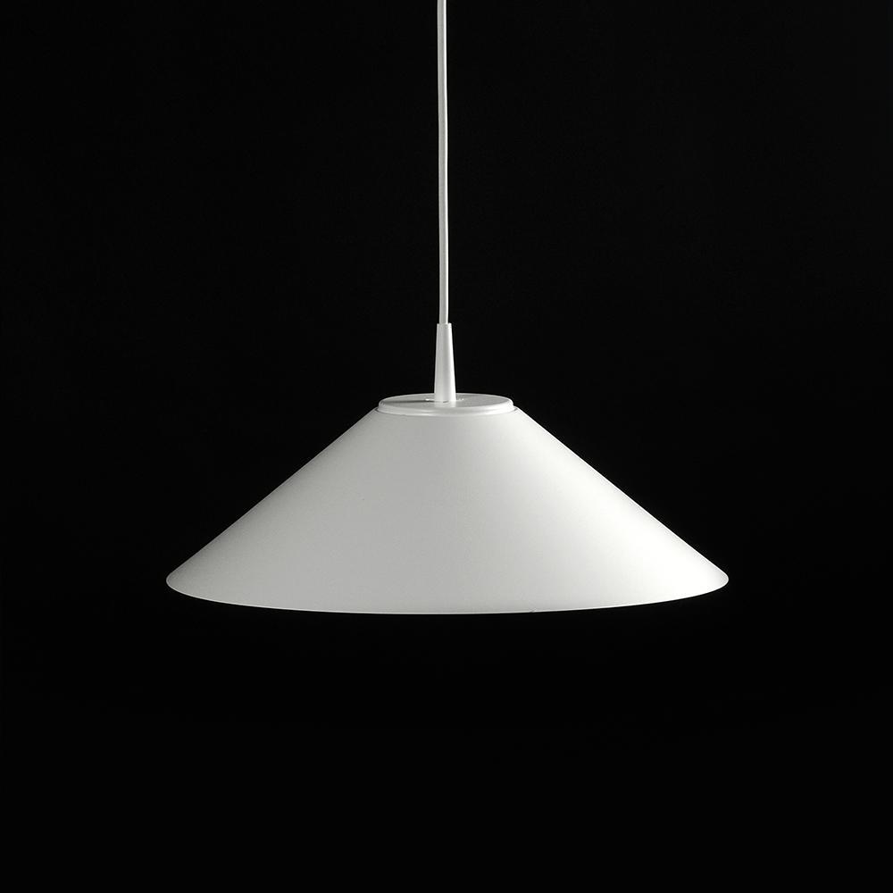 Hat Lámpara Colgante 365Ø 11W Lacado blanco