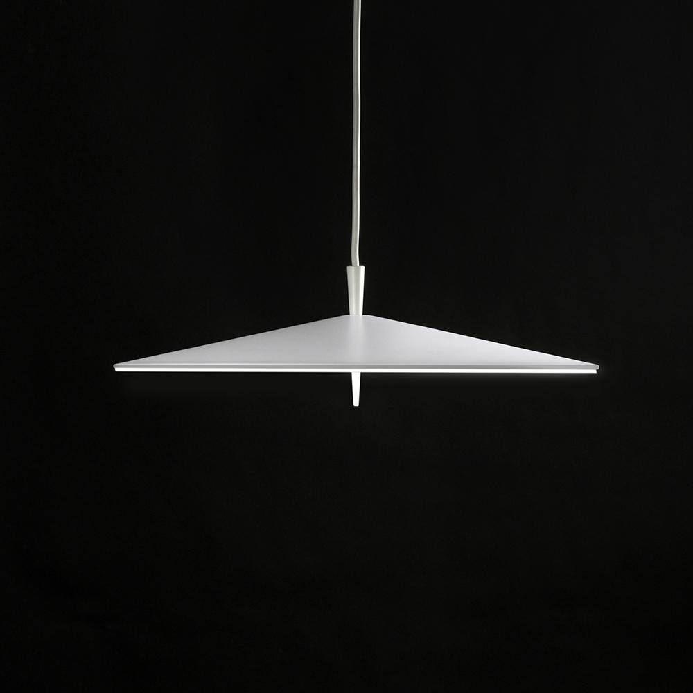 Pla Lámpara Colgante Ø200mm LED 3x4W Lacado Blanco