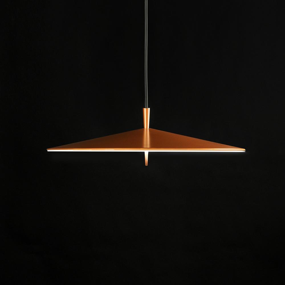 Pla Lámpara Colgante Ø200mm LED 3x4W Lacado Cobre