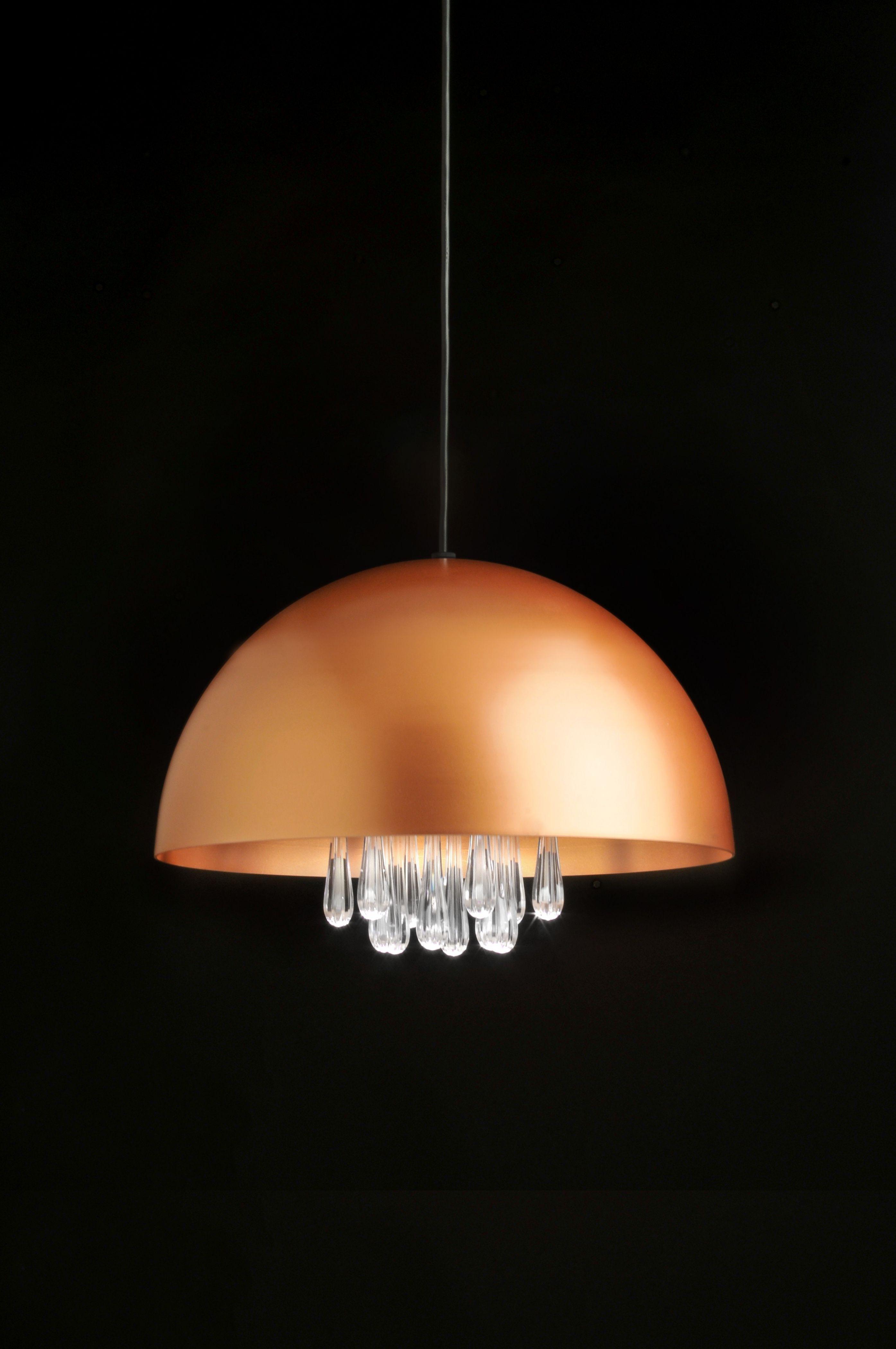 Medusa Lámpara Colgante LED 11W Lacado Cobre