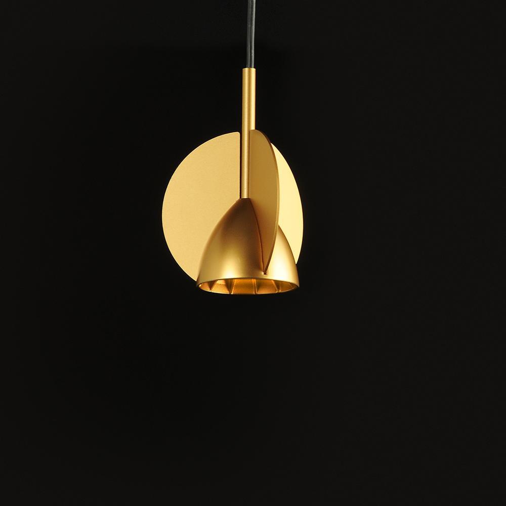Kask Colgante LED 7W Lacado dorado