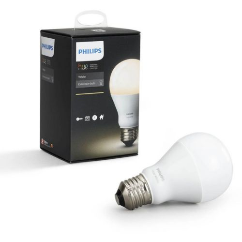 Philips Hue white - Pack of 2 Bombillas Conectadas, Casquillo E27, Controlable Vía Smartphone, light warm dimmable/programable