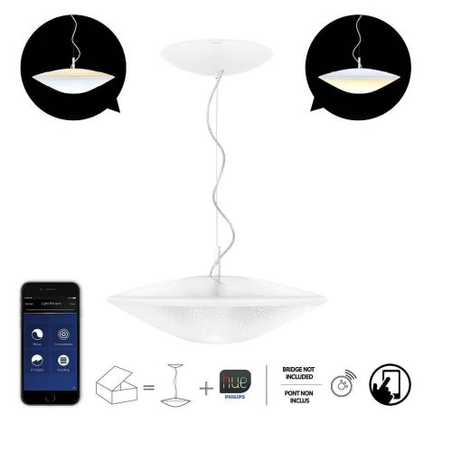 Philips Hue Phoenix - Pendant Lamp Conectada, Controlable Vía Smartphone, light warm O cold dimmable/programable