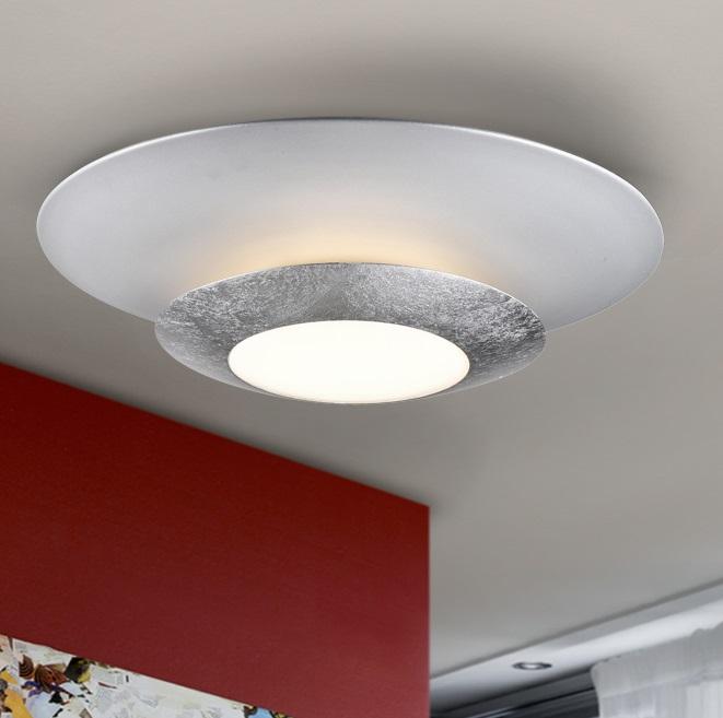 Hole Plafón LED 22,5W ø42x9cm - Pan de plata