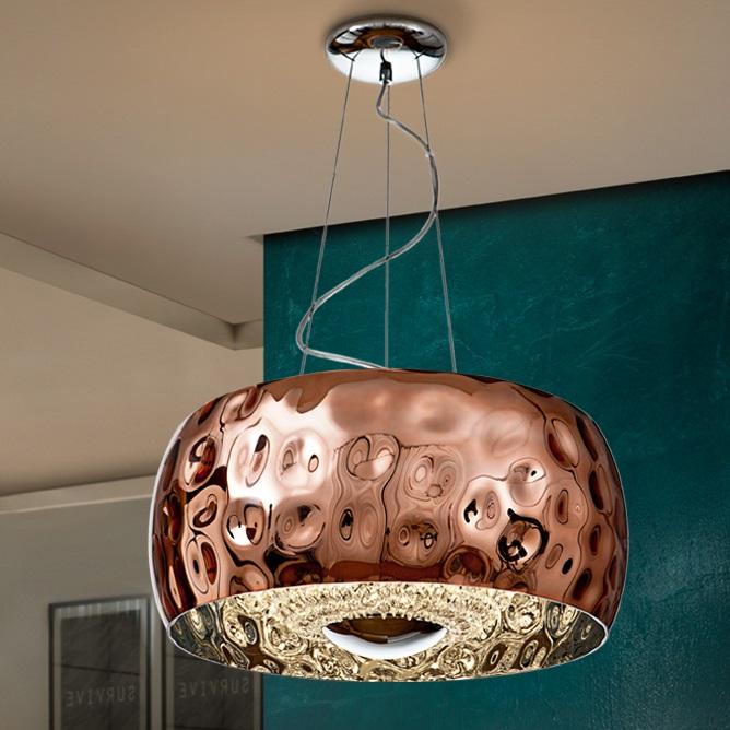 Fluvio Lámpara colgante 6x33W LED ø50x25cm - Metal acabado cobre