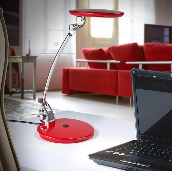 Omnia Sobremesa LED 5W 27x35x16cm - Rojo