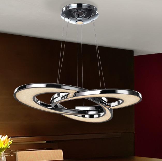 Anisia Lámpara colgante LED 50,40W ø71x7cm - Cromo y transparente