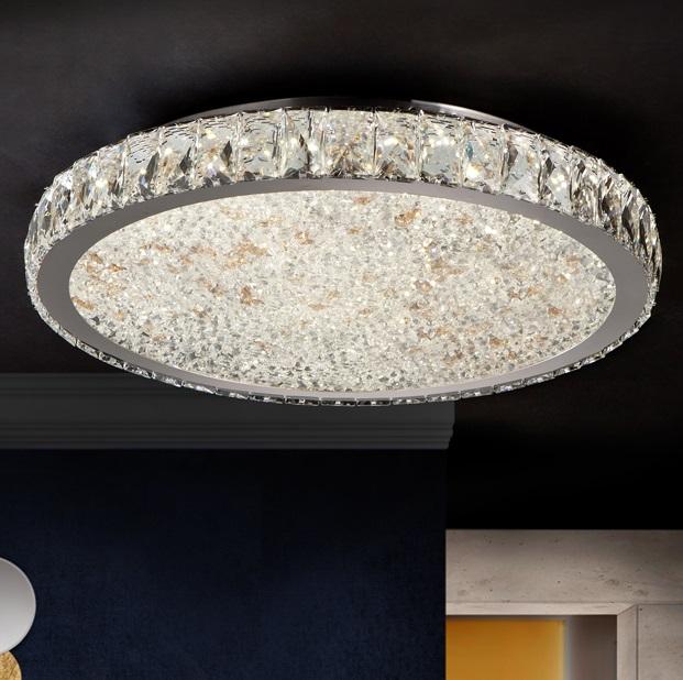 Dana Plafón ø49x8cm - LED 56W Cromado, transparente y ámbar