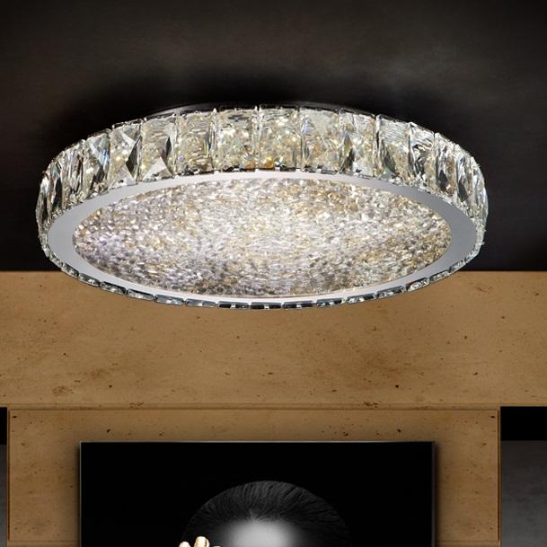 Dana Plafón ø39x8cm - LED 40W Cromado, transparente y ámbar