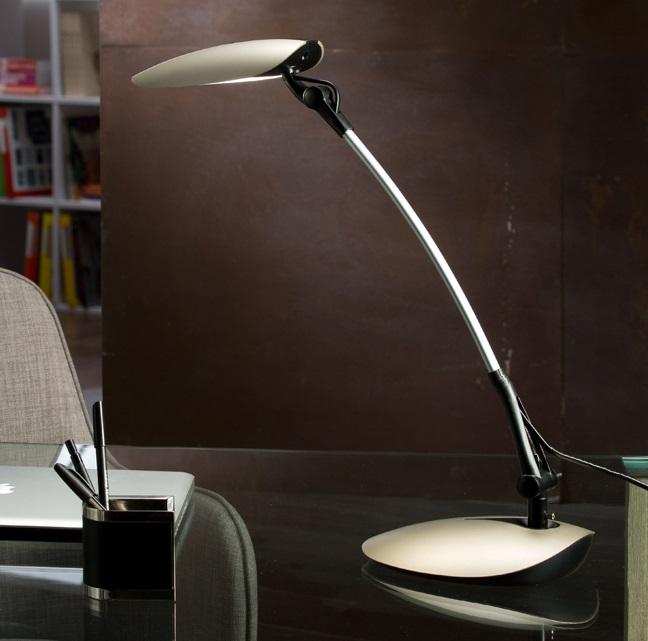Dron Sobremesa LED 9W 29x56x18cm - Champán metalizado y negro