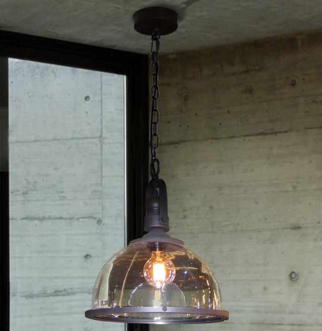 Bistro Lámpara colgante LED 60W ø34x45cm -Negro óxido
