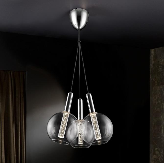 Eire Lámpara Colgante ø40 3x15W LED Cromo