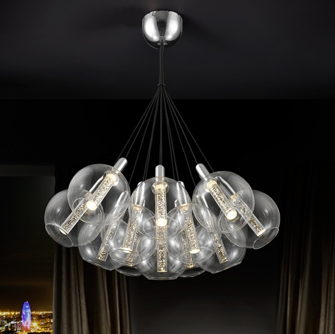 Eire Lámpara Colgante ø71 12x36W LED Cromo