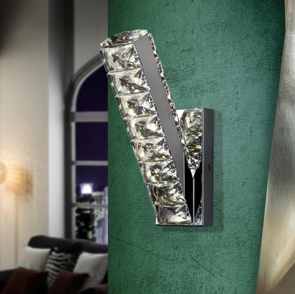 Diva Aplique LED 12W 8x24x16cm - Cromado y transparente