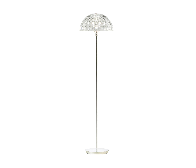 Deco Lámpara de pie E14 60W Cromo Cristal Turquesa