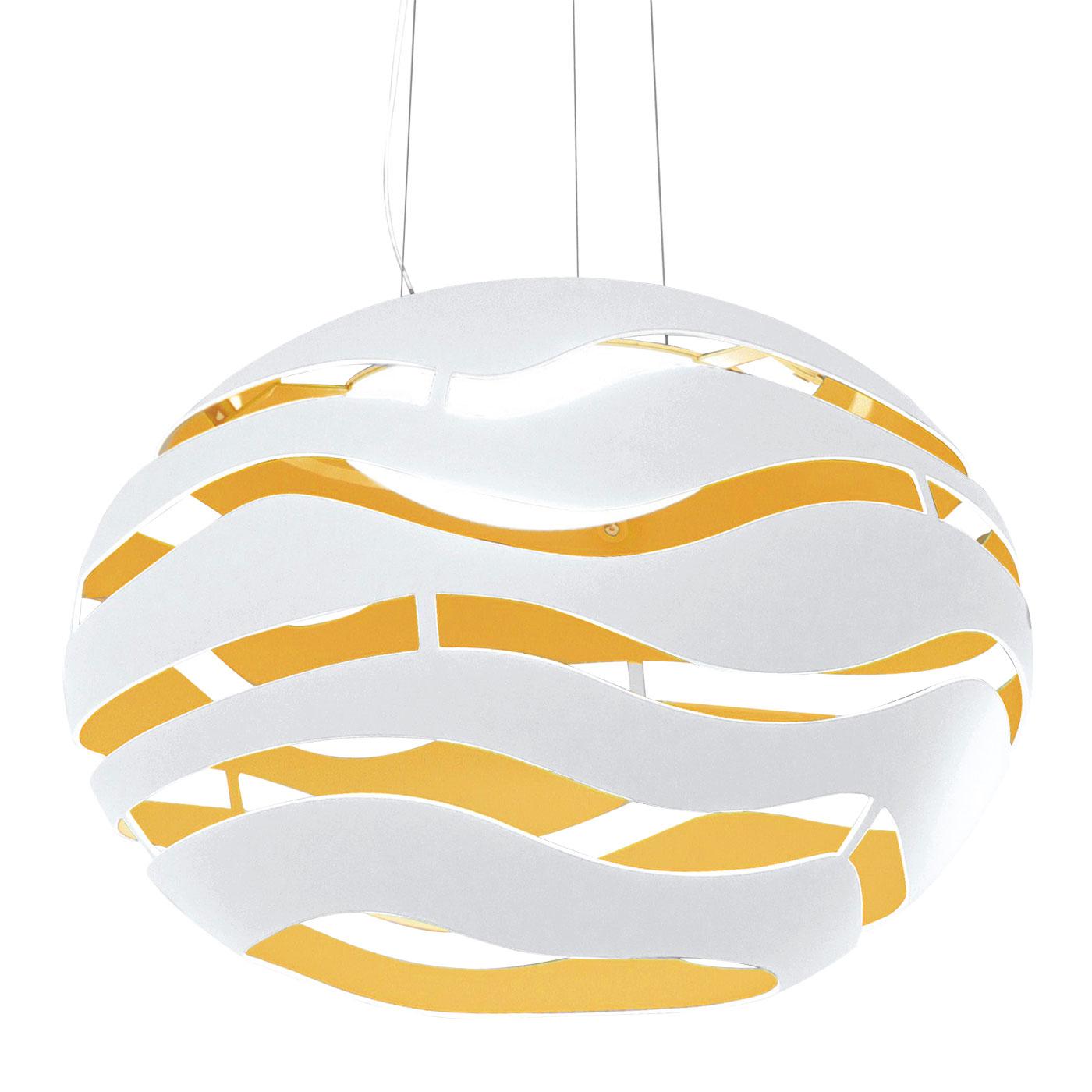 Tree Series S50 Lámpara colgante Halo 130W ECO - Blanco interior dorado