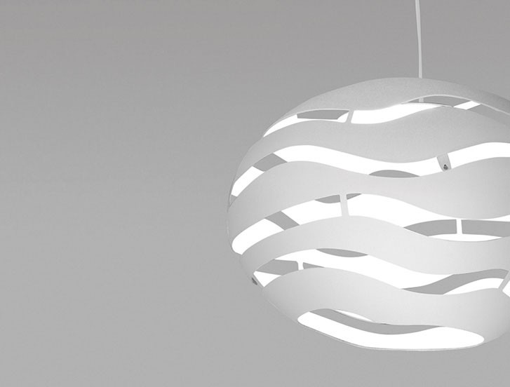 Tree Series S75 Lámpara colgante Halo. ECO 2 x max. 130W - Blanco
