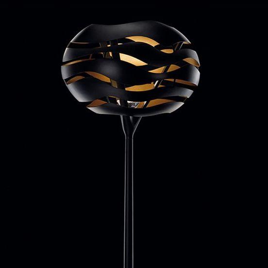 Tree Series F Lámpara de pie 100W E27 - Negro interior dorado