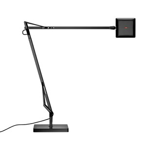 Kelvin Edge Sobremesa con base FLAT PANEL 8W - Negro brillante