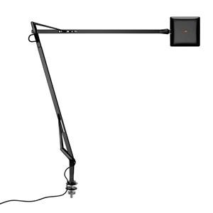 Kelvin Edge Sobremesa con soporte de mesa cable visto FLAT PANEL 8W - Negro brillante