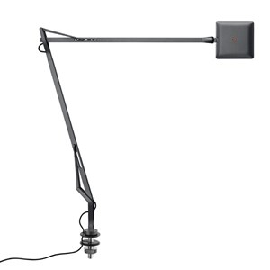 Kelvin Edge Sobremesa con soporte de mesa cable visto FLAT PANEL 8W - Antracita