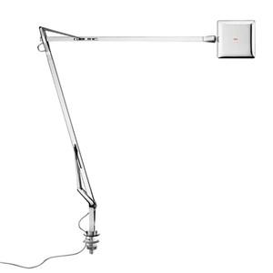 Kelvin Edge Sobremesa con soporte de mesa cable visto FLAT PANEL 8W - Cromo