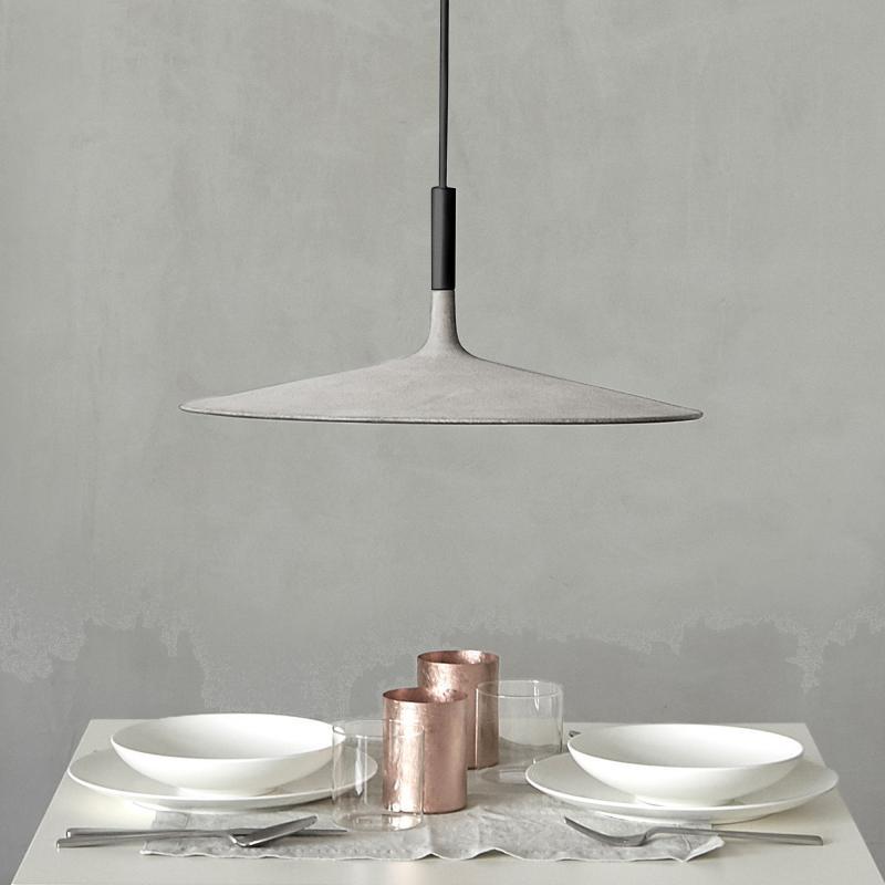Aplomb Large Lámpara colgante LED 11,7W Gris