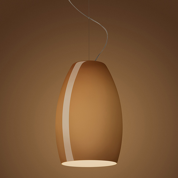 Buds 1 Lámpara colgante sin florón E27 1x23W Marrón