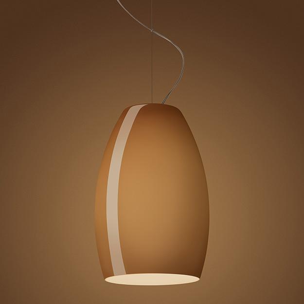 Buds 1 Lámpara colgante sin florón cable 5 metros E27 1x23W Marrón