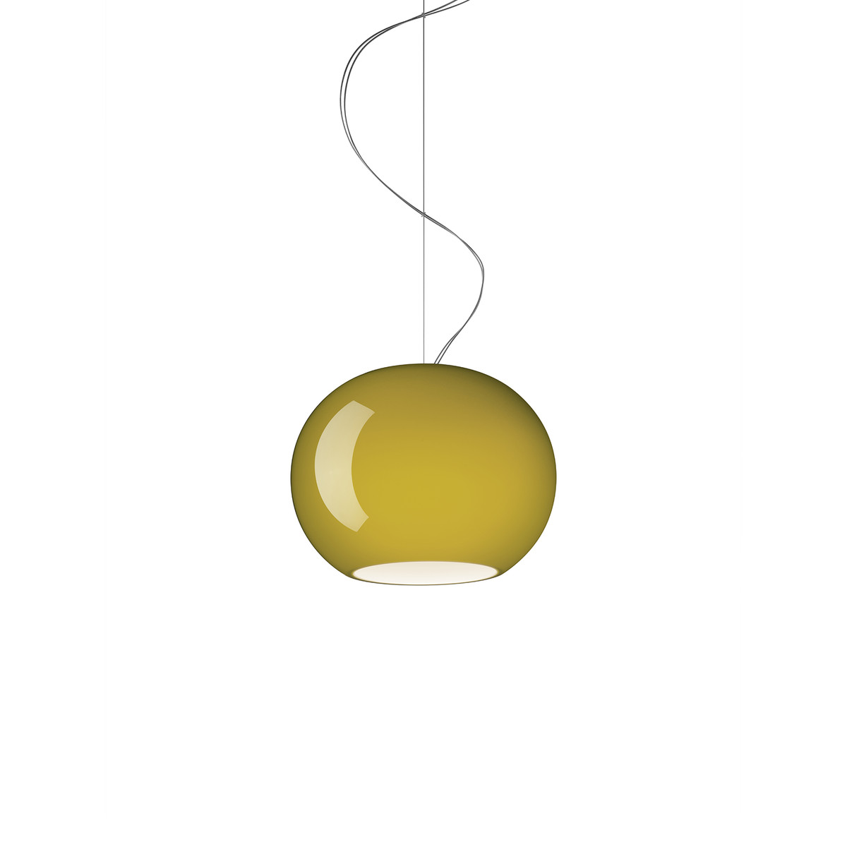 Buds 3 Lámpara colgante cable 5 metros E27 1x23W Ø9cm Verde