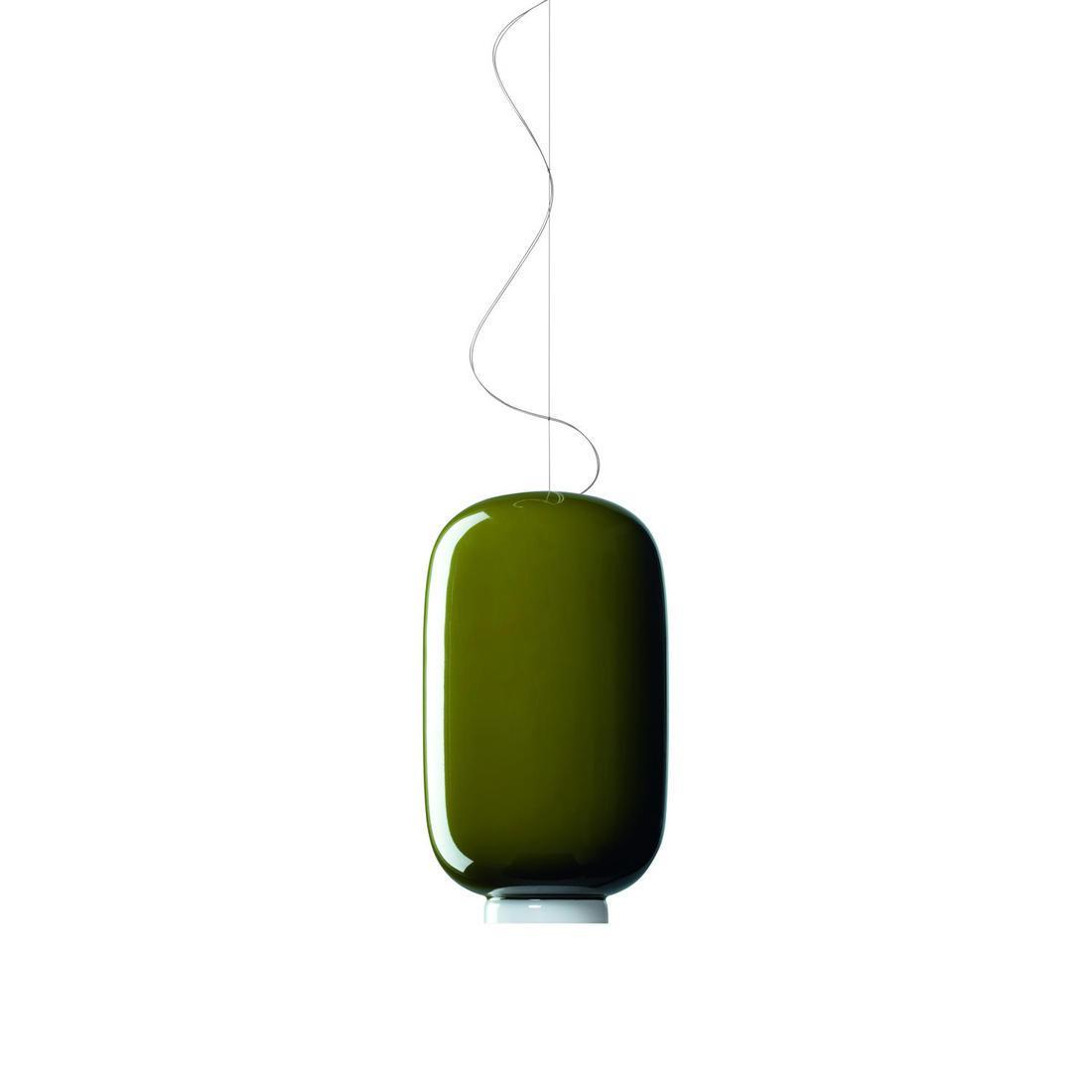 Chouchin 2 Lámpara colgante cable 5 metros LED 24W Blanco y Verde