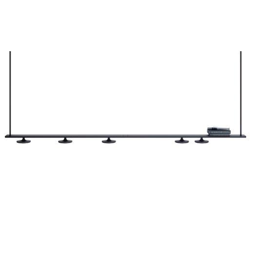 Button T-3306 Lámpara colgante (4 Luces) LED 4x10W - Negro