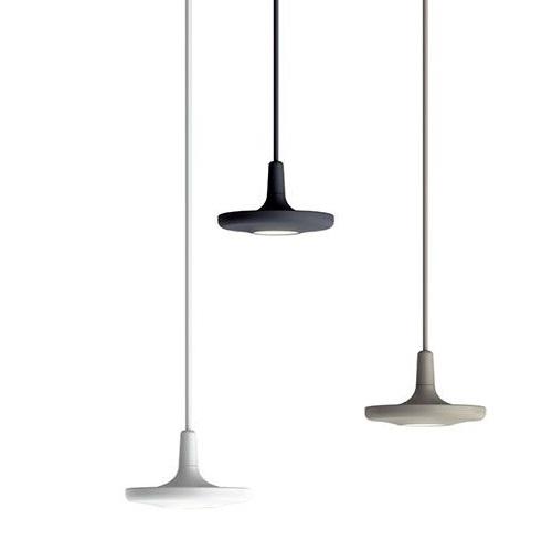 Button Lámpara Colgante Individual LED 10W Blanco satinado