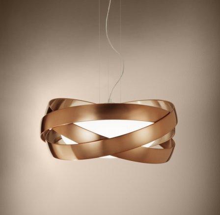 Siso T 2996 lamp Pendant Lamp ø48cm E27 3x100w Copper