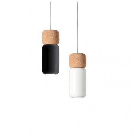 Pila Lámpara Colgante LED 10W Negro