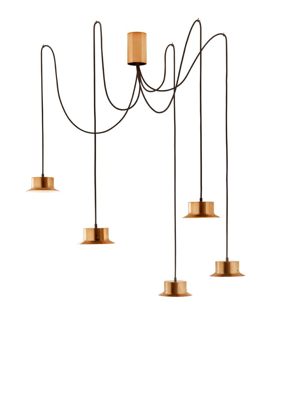 Maine Lámpara Colgante metálico 17,5W Oro Satinado
