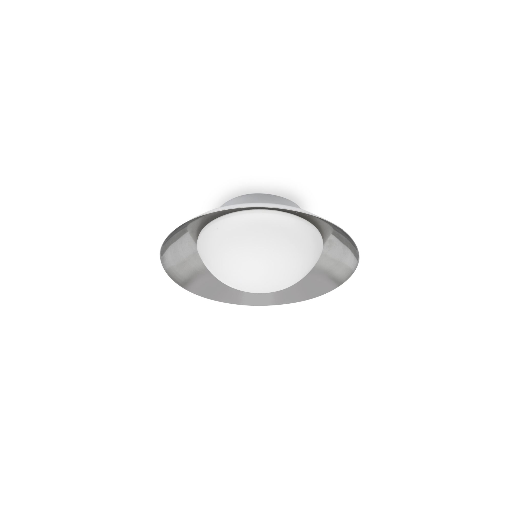 SIDE PLAFON Ø200 BLANCO/NIQUEL MATE G9 LED 28W