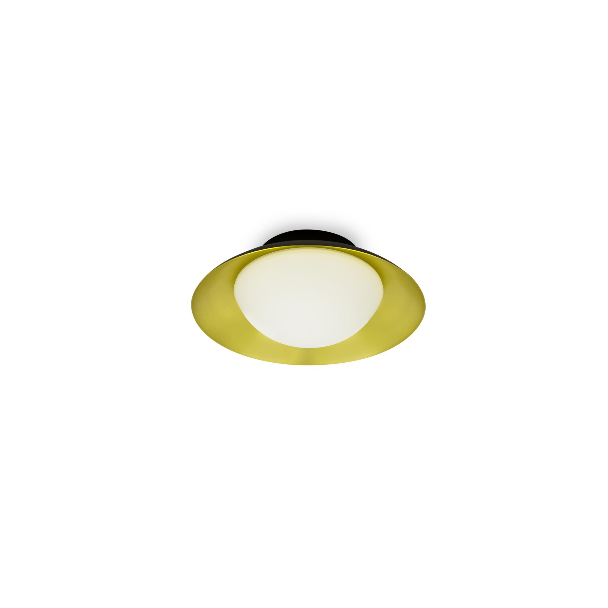 SIDE PLAFON Ø200 NEGRO/ORO SATINADO G9 LED 28W