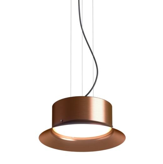 Maine Lámpara Colgante con Florón metálico Cobre