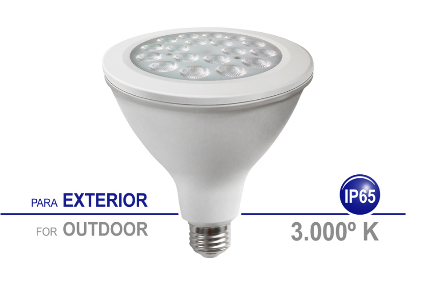 FOCOLED PAR IP65 18W 3000K E27