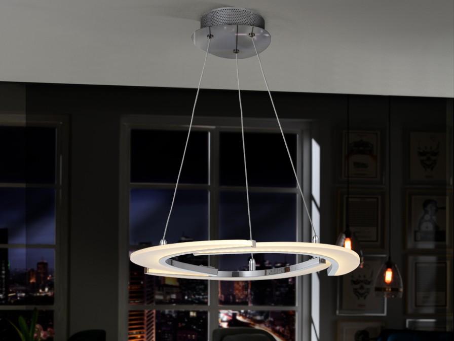 Aldair Lámpara Colgante 19,4W LED Cromo