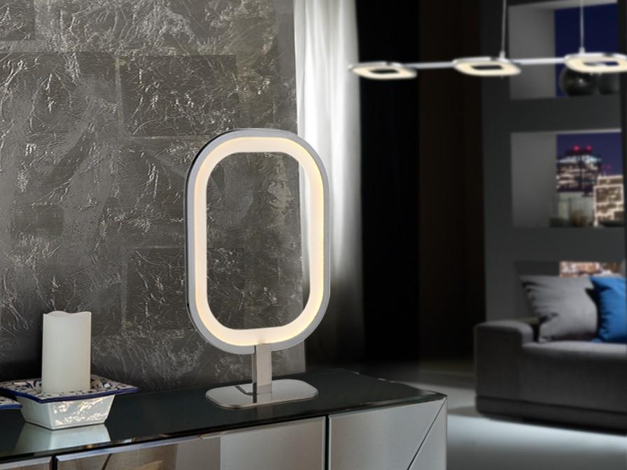 Órbita Lámpara Sobremesa 10W LED Cromo