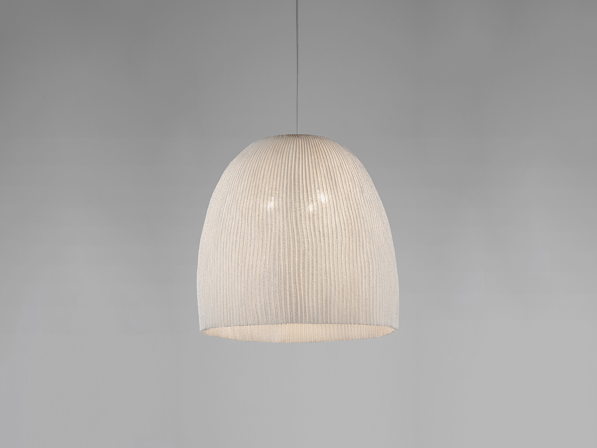 Onn Lámpara colgante LED 18,1W regulable ø45cm Acero inoxidable pintado