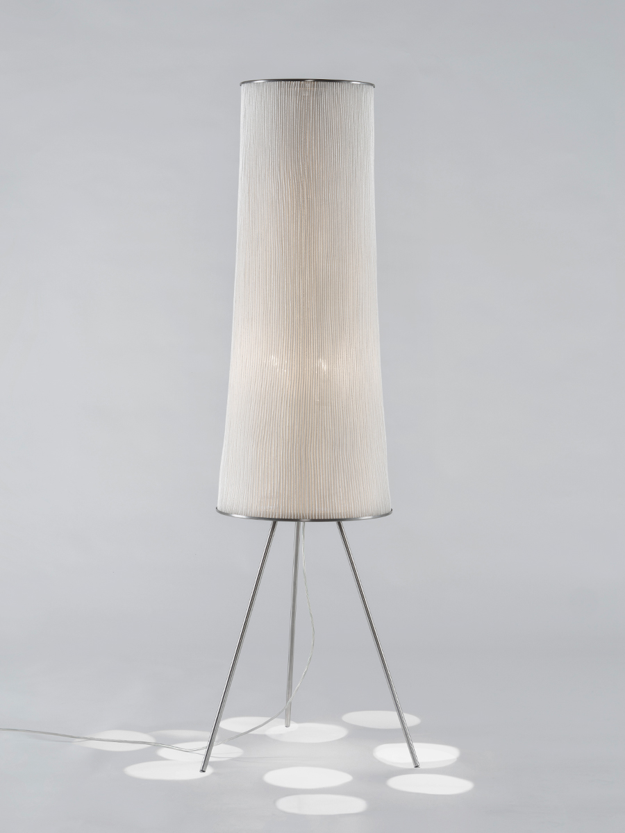 Ura Lámpara de pie ø52x156cm E27 3x100W Acero inoxidable pintado