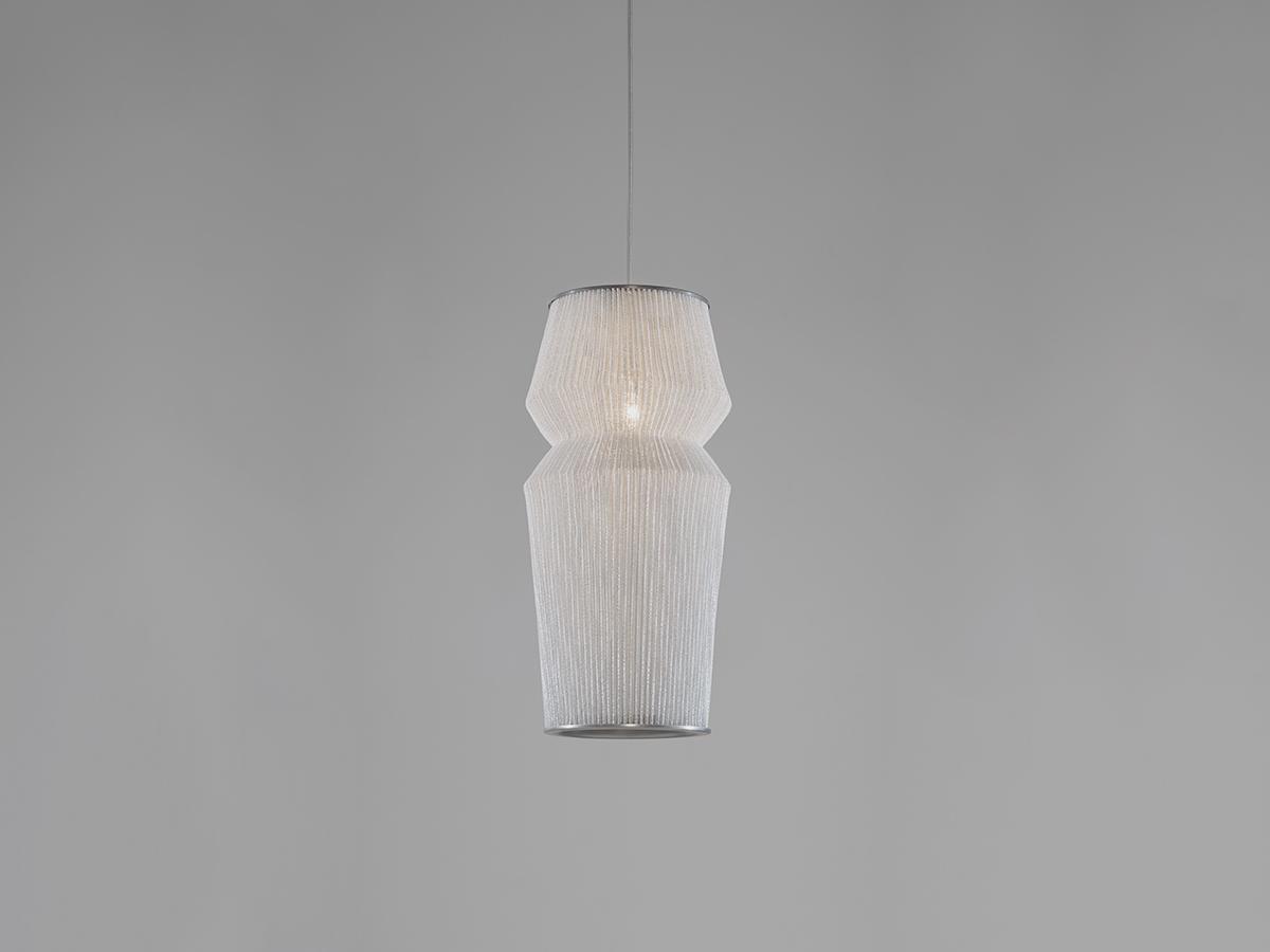 Ura 2 Lámpara colgante ø20x150cm LED 18,1W Acero inoxidable pintado