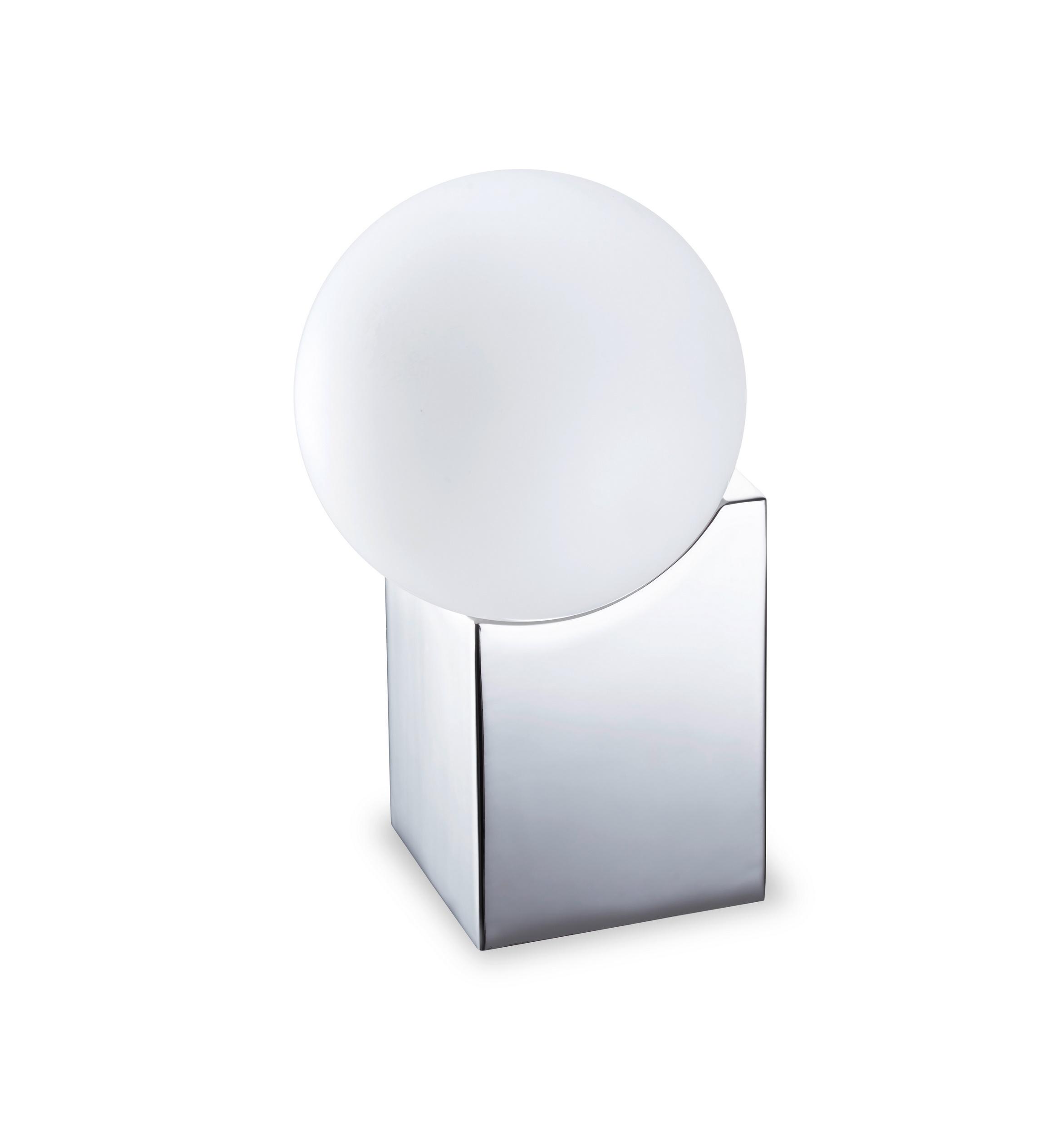 Cub Sobremesa pequeño G-9 LED Acero y cristal 17,5cm