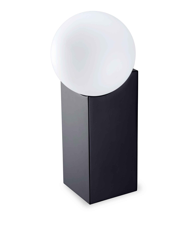 Cub Sobremesa grande G-9 LED Acero y cristal 23,5cm