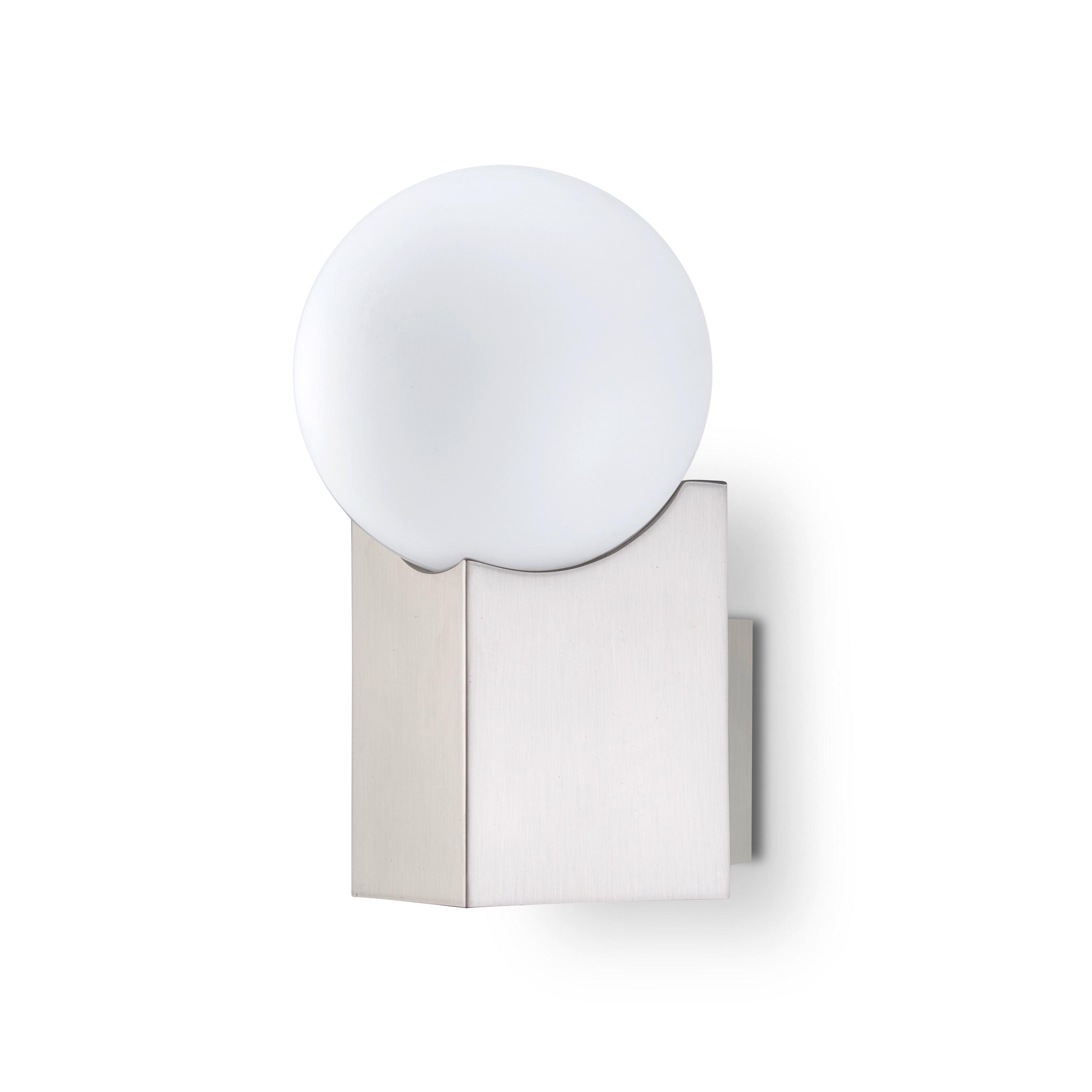 Cub Aplique G-9 LED Acero y cristal 17,5cm