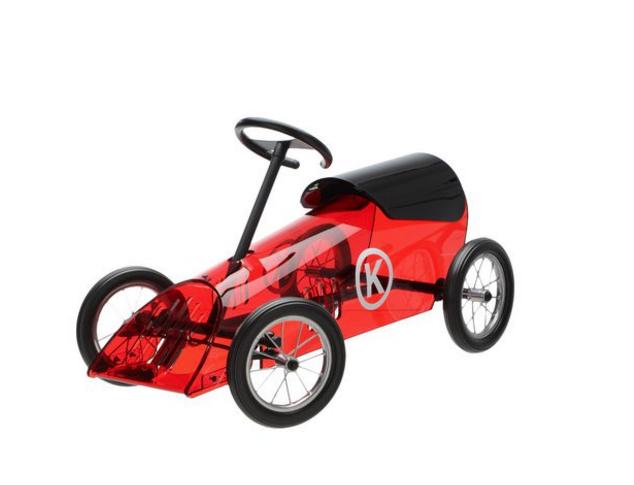 Discovolante Máquina en forma de coche para niños Rojo