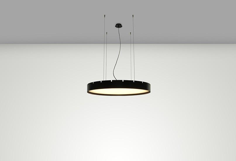 Castle S90 Lámpara colgante LED 58W Negro mate texturado